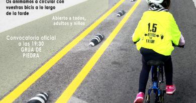 VEN ESTE VIERNES 26 a las 19:30 EN LA GRÚA DE PIEDRA (SANTANDER) A CONOCER LOS CARRILES BICI DE SANTANDER